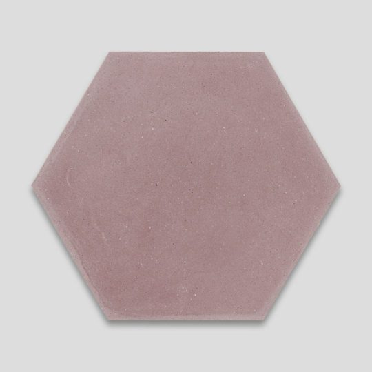 Hex Plain Dirty Pink Hexagon Encaustic Cement Tile