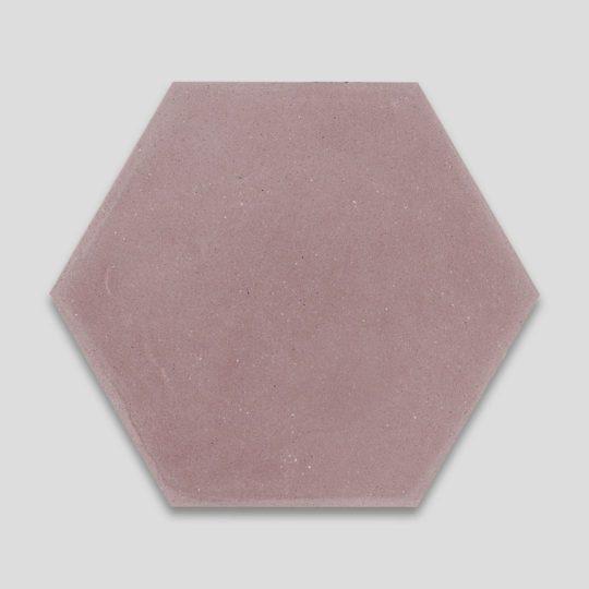 Hex Plain Dirty Pink Hexagon Encaustic Cement Tile