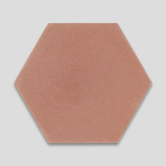 Hex Plain Peach Hexagon Encaustic Cement Tile