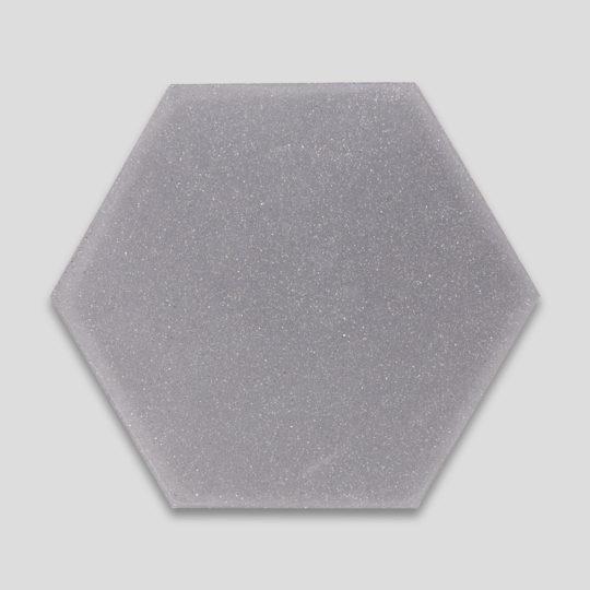 Hex Plain Shark Gray Encaustic Cement Tile