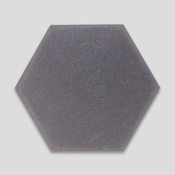 Hex Plain Shark Gray Hexagon Encaustic Cement Tile