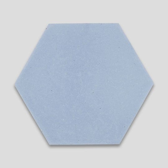 Hex Plain Sky Blue Hexagon Encaustic Cement Tile