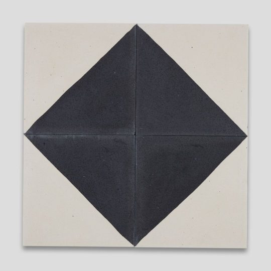 Magic Triangle Black Encaustic Cement Tile