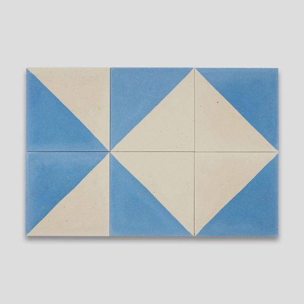 Magic Triangle Blue 602 Encaustic Cement Tile