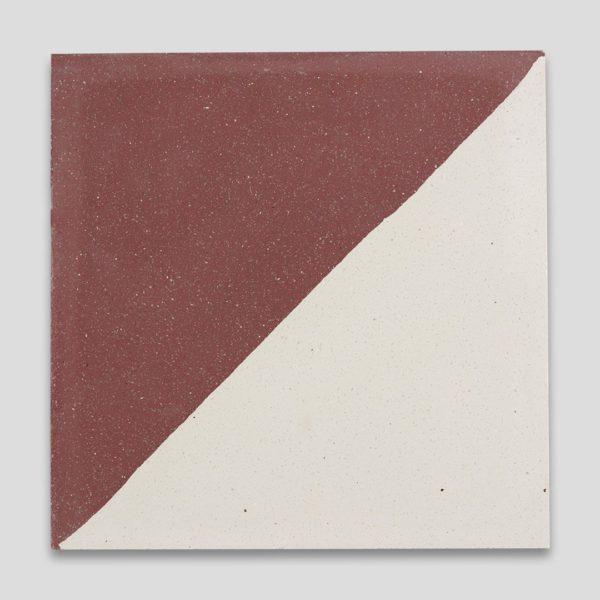 Magic Triangle Burgundy Encaustic Cement Tile