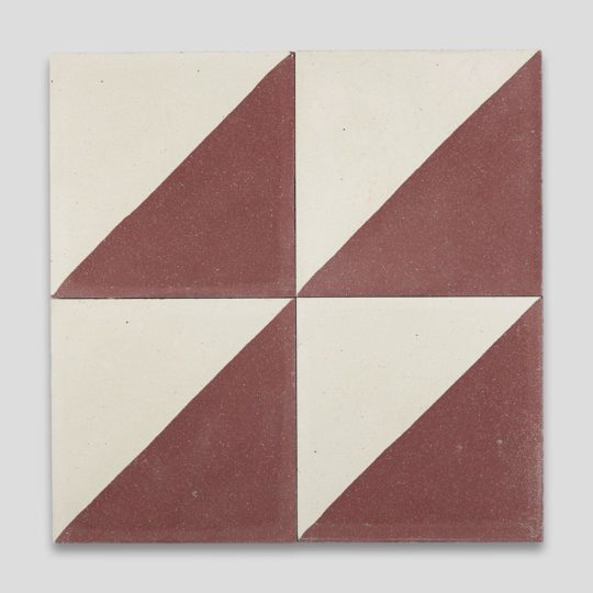 Magic Triangle Burgundy Encaustic Cement Tile