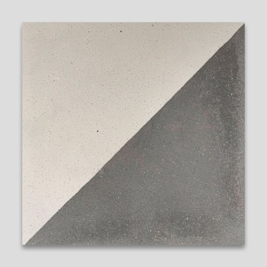 Magic Triangle Gray Encaustic Cement Tile