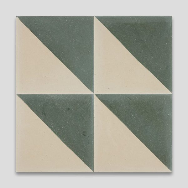 Magic Triangle Green 602 Encaustic Cement Tile