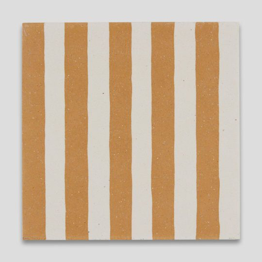 Mustard Stripes Encaustic Cement Tile