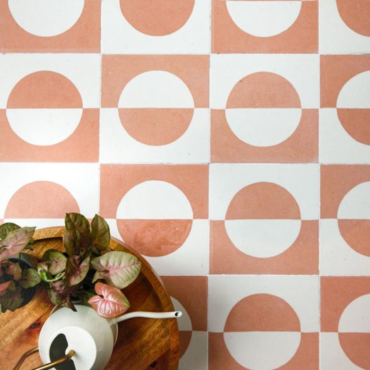 Odi Peach Encaustic Cement Tile
