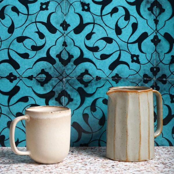 Oriental Fairy Hand Painted Ceramic Tile
