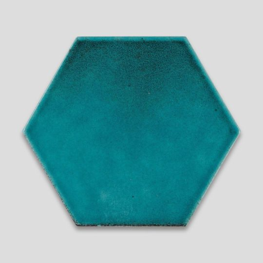 Oxidised Turquoise Hexagon Ceramic Tile