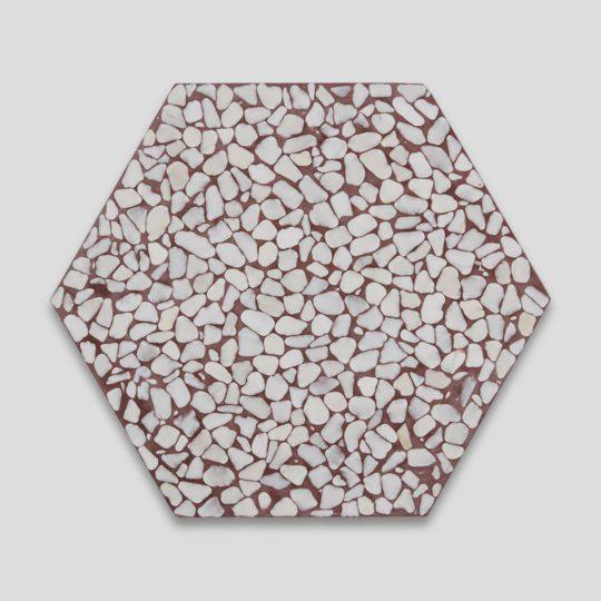 Pebble Hex Terrazzo Brown Tile