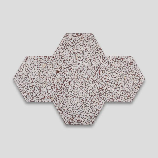 Pebble Hex Terrazzo Brown Tile