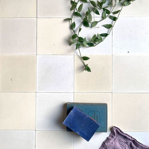 Pure White Encaustic Cement Tile