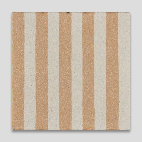 Sanded Yellow Stripes Encaustic Cement Tile