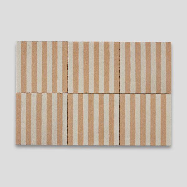 Sanded Yellow Stripes Encaustic Cement Tile