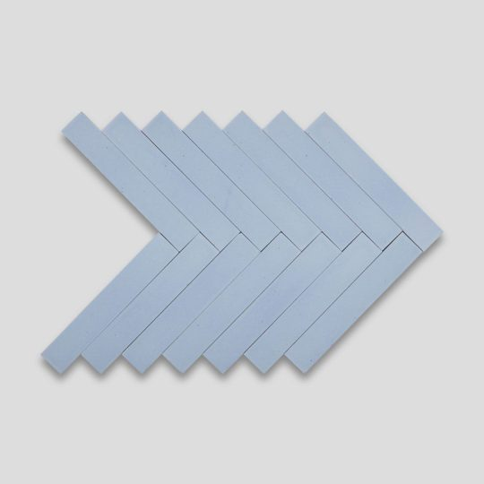 Sky Blue Herringbone Encaustic Cement Tile