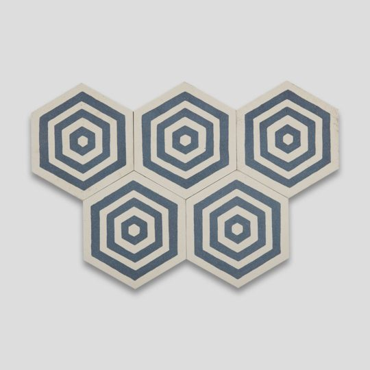 St Tropez Hexagon Encaustic Cement Tile