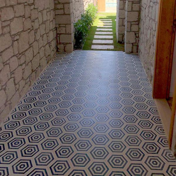 St Tropez Hexagon Encaustic Cement Tile