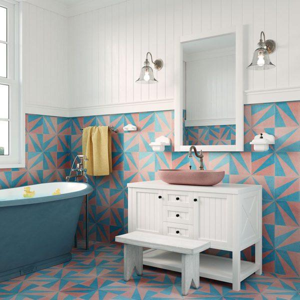 Turquoise London Encaustic Cement Tile