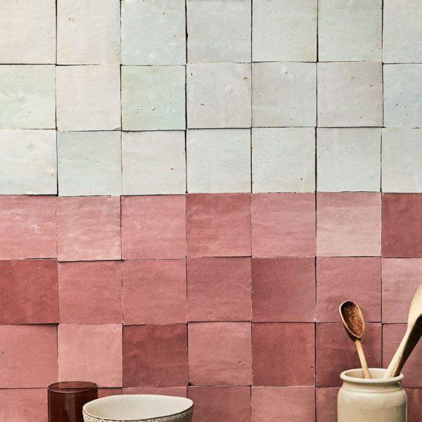 White Zellige Tile - Pink Zellige Tile