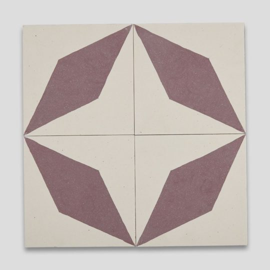 Aubergine Diamond Encaustic Cement Tile