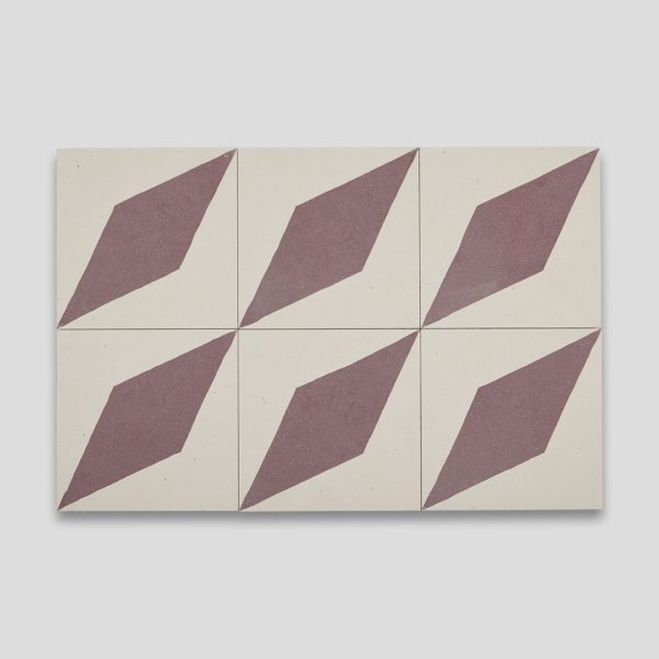 Aubergine Diamond Encaustic Cement Tile