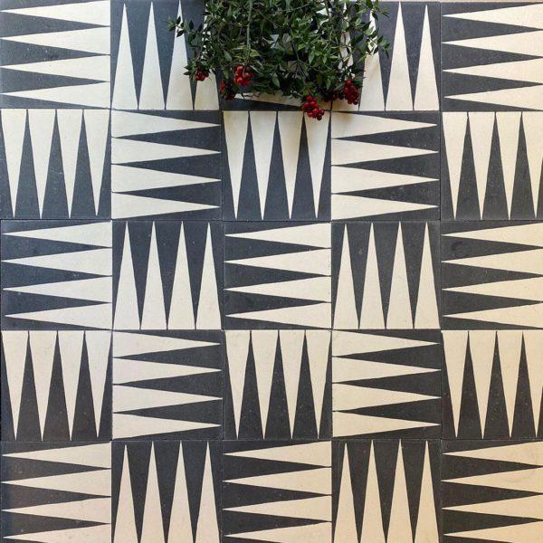 Black Gammon Encaustic Cement Tile