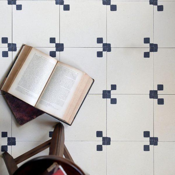 Minimalist Encaustic Cement Tile