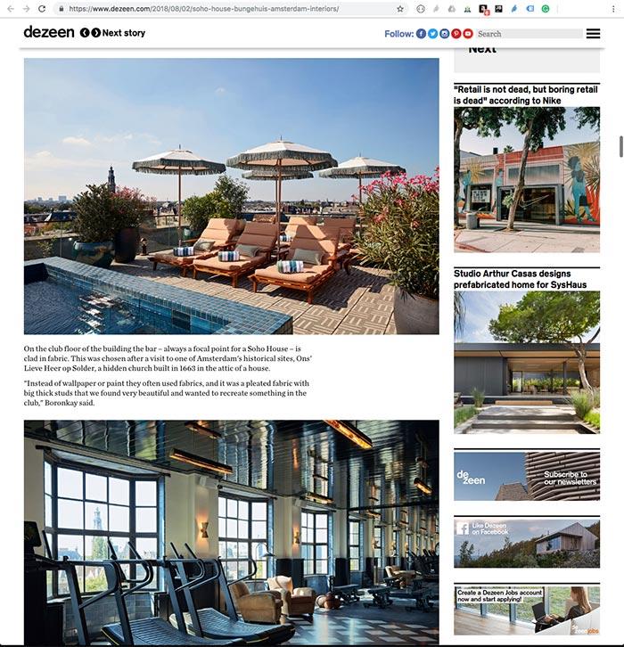 Dezeen Magazine – August 2018