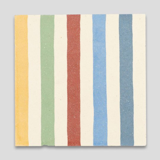 Rainbow Stripes Encaustic Cement Tile