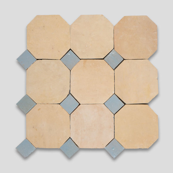 Moroccan Terracotta Gray Octagon Zellige Tile