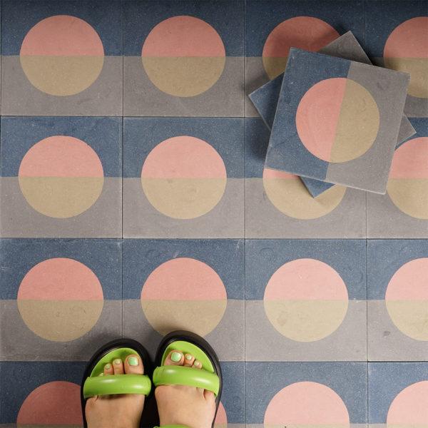 Sea Sparkle Encaustic Cement Tile