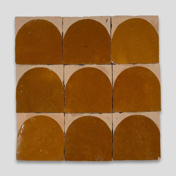 Amber Arch Terracotta Zellige