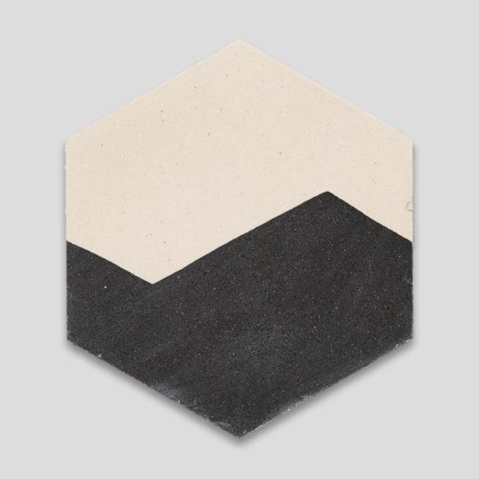 Hex Waves Encaustic Cement Tile