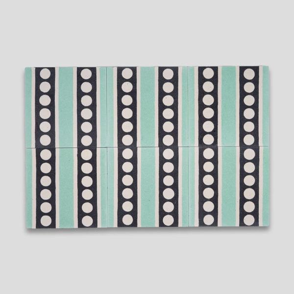 Tiffany Dots Encaustic Cement Tile