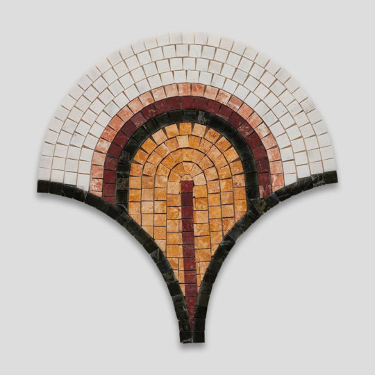 Colourful Dark Marble Mosaic Fish Scale Tile